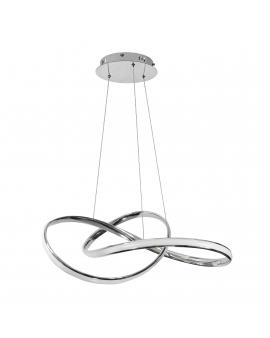 Nowoczesna Lampa wisząca LED CIRCLE RING CR 42W 3000K 1500lm żyrandol koło okrągła pierścień 50cm chrom