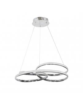 Nowoczesna Lampa wisząca LED CIRCLE RING CR 42W 3000K 1500lm żyrandol koło okrągła pierścień 47cm chrom