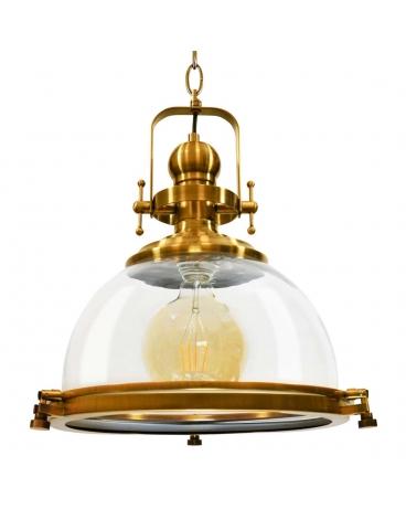 Lampa Wisząca Sonora Szklana Oprawa W Stylu Rustykalnym Nad Stół Wyspę