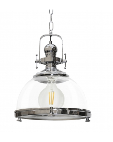 Lampa wisząca INARI szklana przezroczysta oprawa w rustykalnym stylu