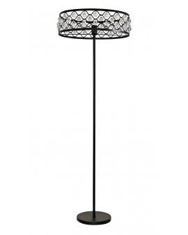 WYS.24H! Elegancka lampa podłogowa FAZI z kryształkami DECO świecznikowa ażurowa refleksy Loft
