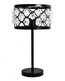 WYS.24H! Elegancka lampa stołowa FAZI z kryształkami DECO świecznikowa ażurowa refleksy Loft