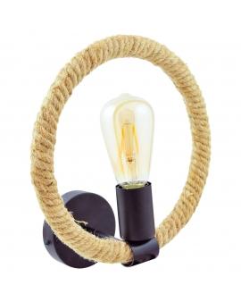 Marynistyczna lampa kinkiet BROOKLYN ścienna rustykalna lina sznur