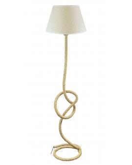 WYS.24H! Skandynawska lampa podłogowa BROOKLYN sznur beżowy konopny lina w stylu marynistycznym Vintage E27
