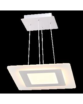 WYS.24H! Supernowoczesna LAMPA wisząca FLORIDA LED RING kwadrat Ø48 35W 1900lm DESIGN żyrandol biały