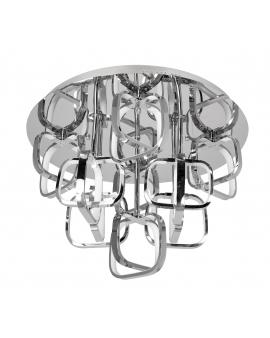 WYS 24H! LAMPA SUFITOWA PLAFON Ø56 ŻYRANDOL 135W LED NEUTRALNA KWADRATY