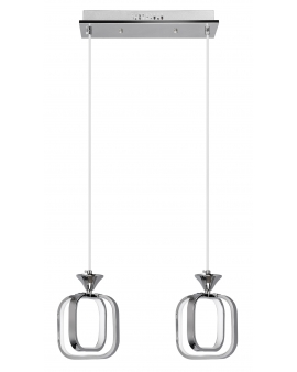 VENTI W-MD 9713/2 CHROM LAMPA WISZĄCA LED ARVINA RAMKI KWADRATY 26W ZWIS ŻYRANDOL