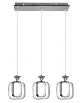 VENTI W-MD 9713/3 CHROM LAMPA WISZĄCA LED ARVINA RAMKI KWADRATY 39W ZWIS ŻYRANDOL