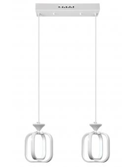 VENTI W-MD 9713/2 WHITE LAMPA WISZĄCA LED ARVINA RAMKI KWADRATY 26W ZWIS ŻYRANDOL BIAŁY