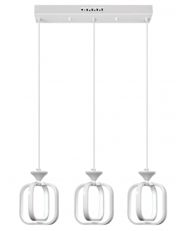 VENTI W-MD 9713/3 WHITE LAMPA WISZĄCA LED ARVINA RAMKI KWADRATY 39W ZWIS ŻYRANDOL BIAŁY