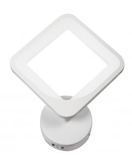 Lampa ścienna ALVINE ring KINKIET okrąg 22cm 24W LED biały
