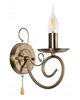 KLASYCZNY Kinkiet LAMPA ścienna świecznikowa ZŁOTA metal