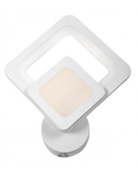 Lampa ścienna ALVINE ring KINKIET kwadrat 26cm 22W LED biały