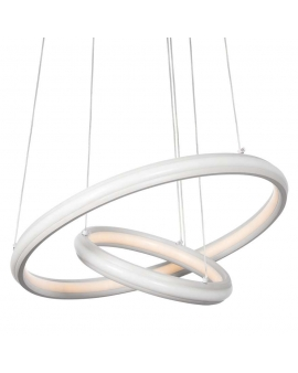 LAMPA wisząca CASANDRA LED RING okrągła 88W zwis żyrandol PIERŚCIENIE Biały