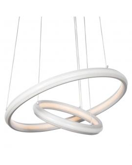 WYS 24H! LAMPA wisząca CASANDRA LED RING okrągła 88W zwis żyrandol PIERŚCIENIE Biały