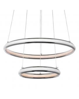 VENTI W-MD 9994/2 LAMPA wisząca CASANDRA LED RING okrągła 88W zwis żyrandol PIERŚCIENIE Chrom