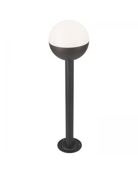 WYS.24H! Lampa Kula do ogrodu classic zewnętrzna biała słupek klosz WYS 80cm E27