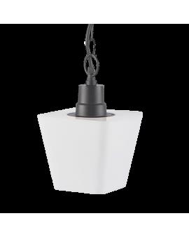 WYS.24H! Lampa wisząca ogrodowa DERVAL zewnętrzna z białym kloszem 1xE27