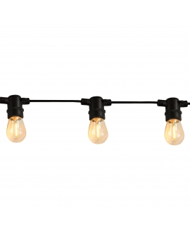 Girlanda Ogrodowa z żarówkami ALTANA sznur świetlny VINTAGE 6,2m 10 KUL 6W LED FILAMENT CIEPŁE