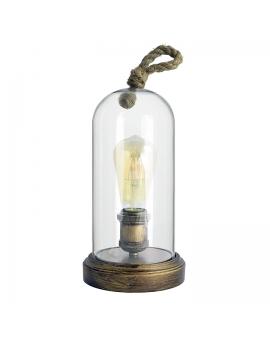 WYS.24H! Marynistyczna lampa stołowa BROOKLYN ścienna kopuła rustykalna sznur E27