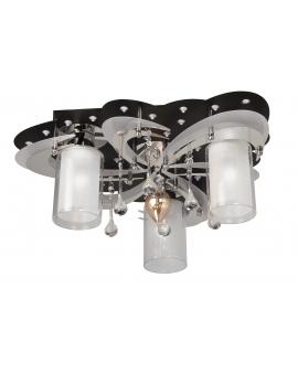 WYS 24H! Nowoczesna Lampa sufitowa APRILIA 3 Plafoniera kryształowa 43cm żyrandol LED RGB