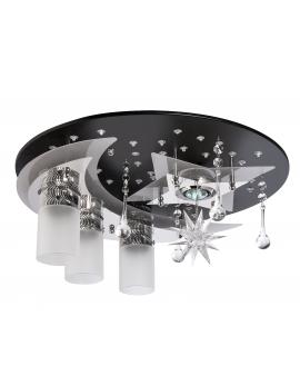 WYS 24H! NOWOCZESNY Plafon APRILIA 3 Plafoniera Kryształowa 45cm żyrandol lampa sufitowa LED RGB