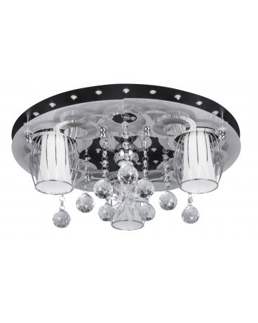 WYS 24H! NOWOCZESNY Plafon APRILIA 3 Plafoniera Kryształowa 50cm żyrandol Crystal LED RGB CHROM
