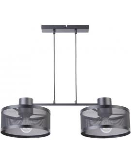 LAMPA industrialna BONO 2 klosze 31902 Sigma druciana LISTWA zwis metalowa loft OKRĄGŁA czarna