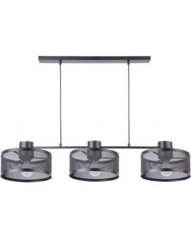 LAMPA industrialna BONO 3 klosze 31900 Sigma druciana LISTWA zwis metalowa loft OKRĄGŁA czarna