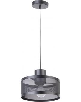 LAMPA industrialna BONO 1 klosze 31904 Sigma druciana LISTWA zwis metalowa loft OKRĄGŁA czarna