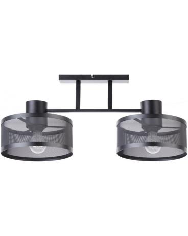 LAMPA industrialna BONO 2 klosze 31908 Sigma druciana LISTWA sufitowa metalowa loft OKRĄGŁA czarna