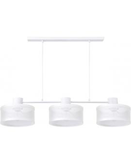 LAMPA industrialna BONO 3 klosze 31901 Sigma druciana LISTWA zwis metalowa loft OKRĄGŁA biała