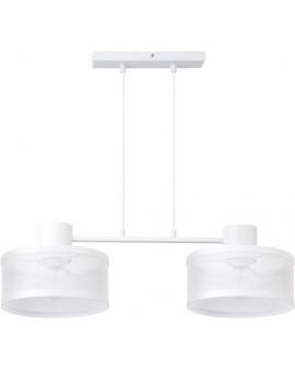 LAMPA industrialna BONO 2 klosze 31903 Sigma druciana LISTWA zwis metalowa loft OKRĄGŁA biała