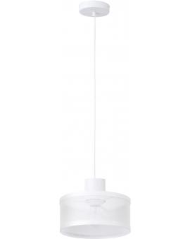 LAMPA industrialna BONO 1 klosz 31905 Sigma druciana LISTWA zwis metalowa loft OKRĄGŁA biała