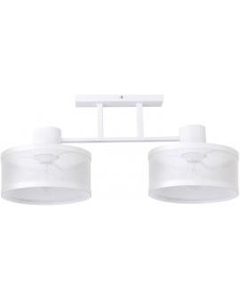 LAMPA industrialna BONO 2 klosze 31909 Sigma druciana LISTWA sufitowa metalowa loft OKRĄGŁA biała
