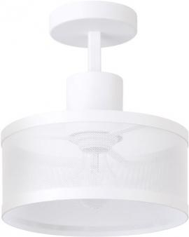 LAMPA industrialna BONO 1 klosz 31911 Sigma druciana LISTWA sufitowa metalowa loft OKRĄGŁA biała