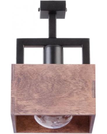 Drewniana Lampa Sufitowa Brąz Dakota 1xe27 Vintage 31744 Na Czarnej