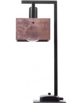 DREWNIANA lampa STOŁOWA brąz DAKOTA 1xE27 VINTAGE 50160 styl SKANDYNAWSKI