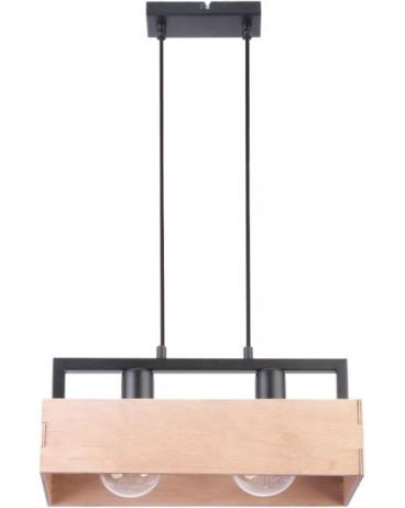 Drewniana Lampa żyrandol Beż Dakota 2xe27 Vintage 31748 Listwa