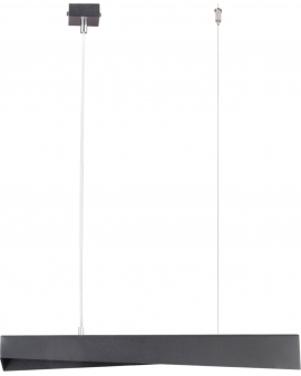 LAMPA wisząca BISTRO 33074 STEEL listwa 65cm NOWOCZESNY LED 8W 3000K 760LM (ciepła) belka czarna SIGMA