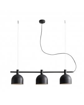 LAMPA modern BERYL 976E1 listwa zwis industrialny na linkach metalowe klosze loft czarny
