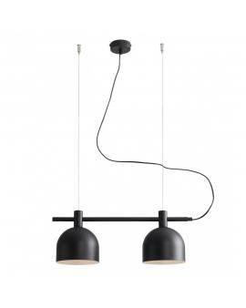 LAMPA wisząca modern BERYL 976H1 listwa zwis industrialny na linkach metalowe klosze loft czarny