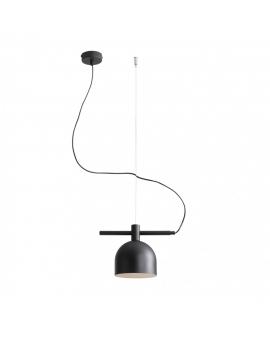 LAMPA wisząca modern BERYL 976G1 listwa zwis industrialny na linkach metalowe klosze loft czarny