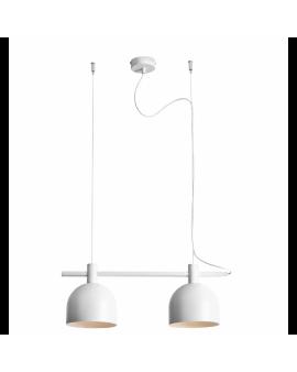 LAMPA wisząca modern BERYL II 976H listwa zwis industrialny na linkach metalowe klosze loft biały