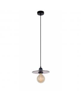 LAMPA żyrandol modern DYSK 999G/M ALDEX industrialna OPRAWA zwis szklany dymiony dysk