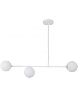 LAMPA wisząca modernistyczna mleczne kule GAMA 3 SIGMA 33191 loftowa molekuły OPRAWA metalowe pręty szklane kule zwis biały