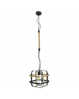 LAMPA wisząca modernistyczna W1 loftowa OPRAWA metalowe pręty czarna-złota