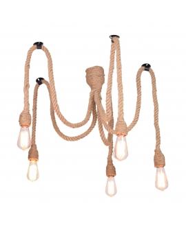 LAMPA SZNUR VINTAGE DESIGN żeglarska lina pająk 2m