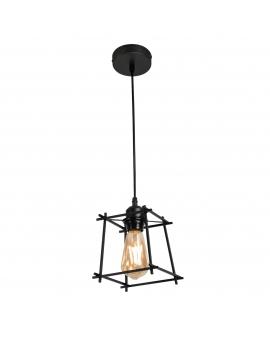 LAMPA wisząca TORN industrialna OPRAWA metalowy zwis druciany klatka loft RETRO edison czarny