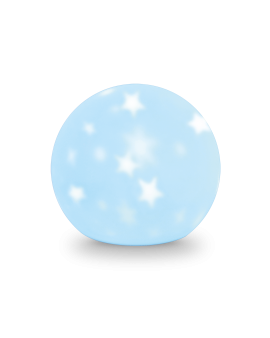 Lampka dekoracyjna z akumulatorem KSIĘŻYC silikonowy LED biały